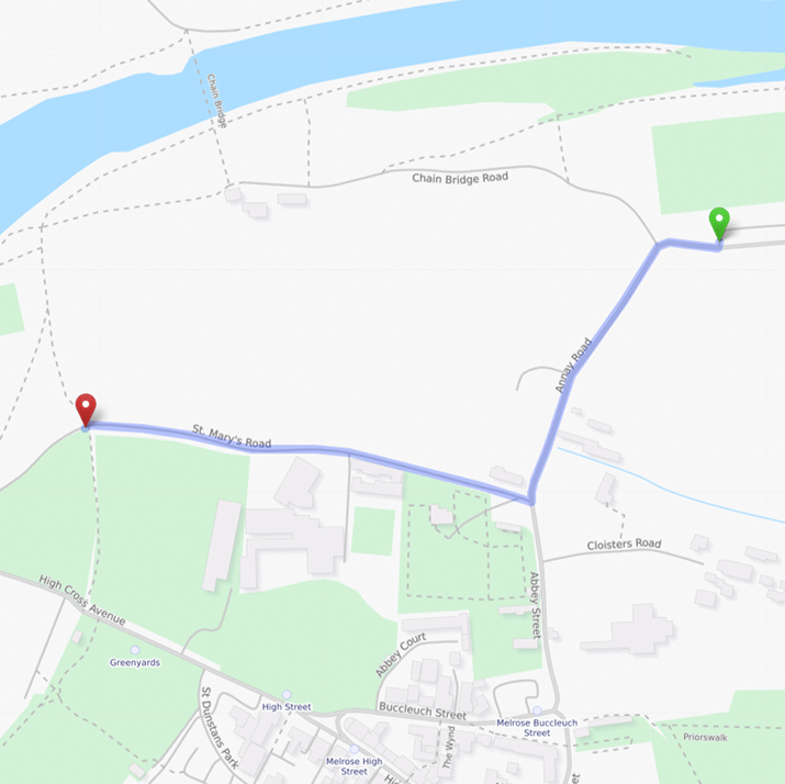 Map from Annay Road car park to start